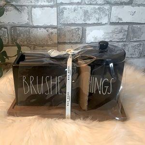 Rae Dunn BRUSHES THINGS bathroom set